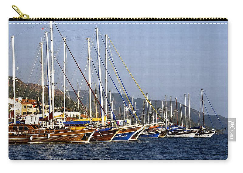 Boat Carry-all Pouch featuring the photograph We Are Sailing by Svetlana Sewell