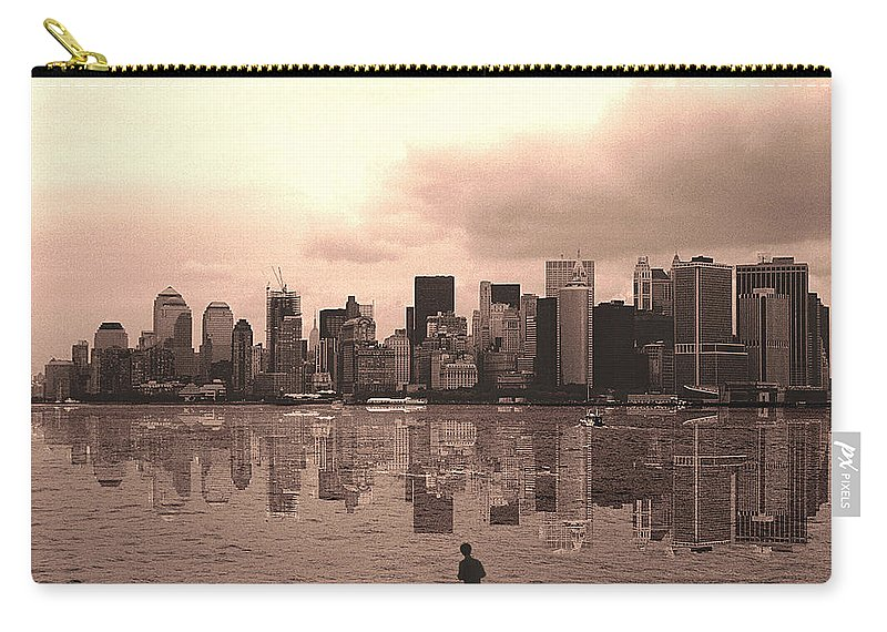 Photo Carry-all Pouch featuring the photograph We Are Watched by Enrique Crusellas