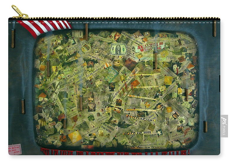 War Carry-all Pouch featuring the painting We Don't See The Whole Picture by James W Johnson