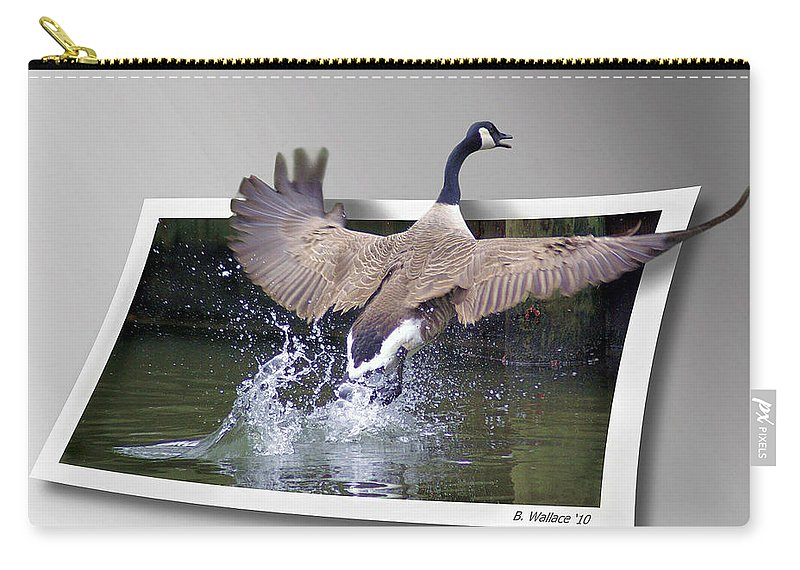2d Carry-all Pouch featuring the photograph We Have Liftoff by Brian Wallace