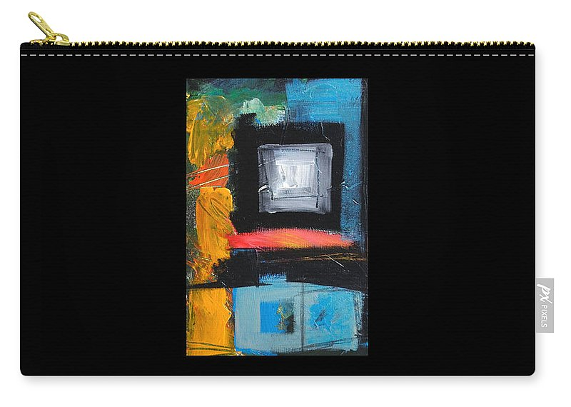Abstract Carry-all Pouch featuring the painting We Interrupt Detail by Tim Nyberg