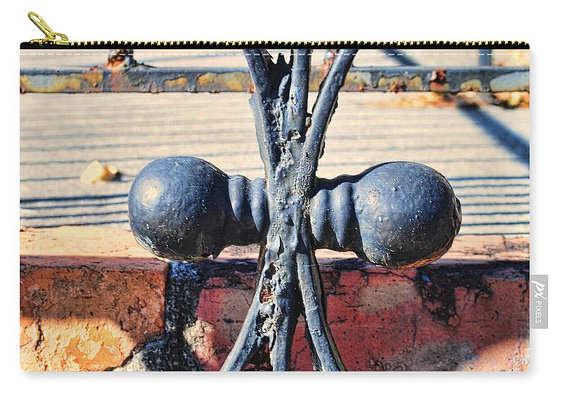Wright Carry-all Pouch featuring the photograph Weathered Duplication by Paulette B Wright
