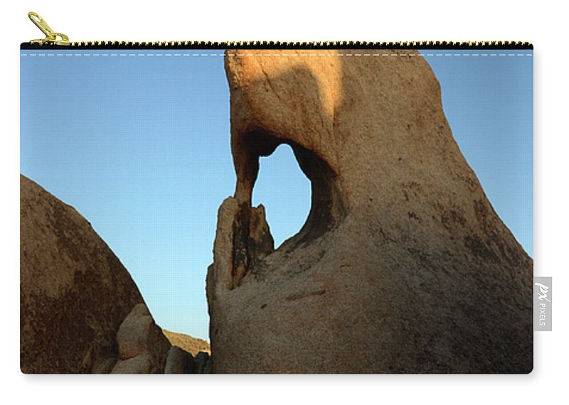 Arch Carry-all Pouch featuring the photograph Weathered Rock by Bob Christopher