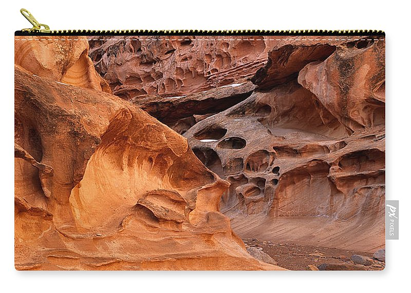 Utah Carry-all Pouch featuring the photograph Weathered Sandstone by Leland D Howard