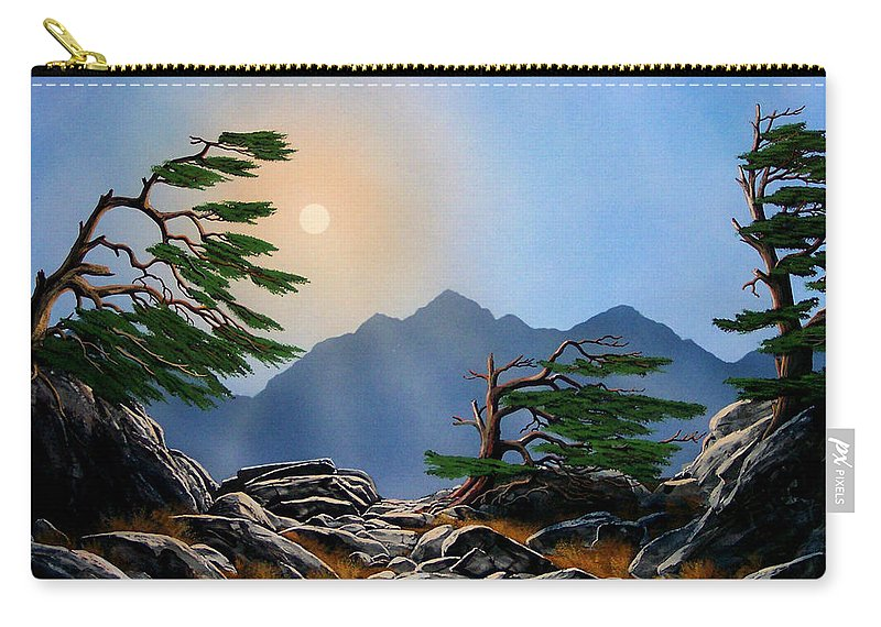 Weathered Warriors Carry-all Pouch featuring the painting Weathered Warriors by Frank Wilson