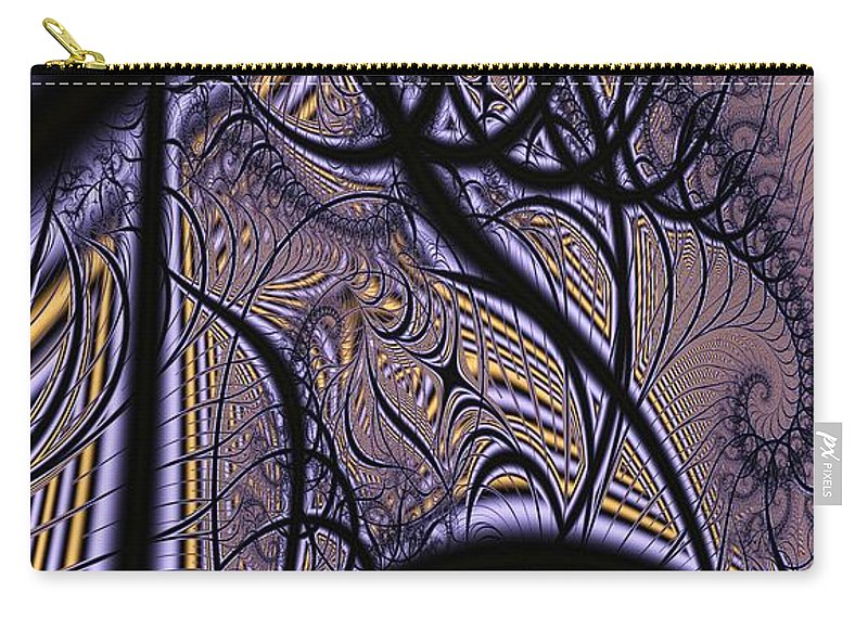 Weave Carry-all Pouch featuring the digital art Weave Interrupted by Ron Bissett