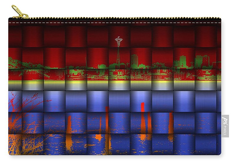 Seattle Carry-all Pouch featuring the photograph Weave Of The Needle by Tim Allen