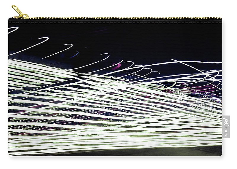 Carry-all Pouch featuring the photograph Web/light by Alfaisal Mishkhas