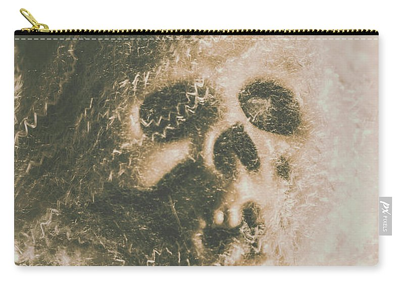 Bone Carry-all Pouch featuring the photograph Webs And Dead Heads by Jorgo Photography - Wall Art Gallery