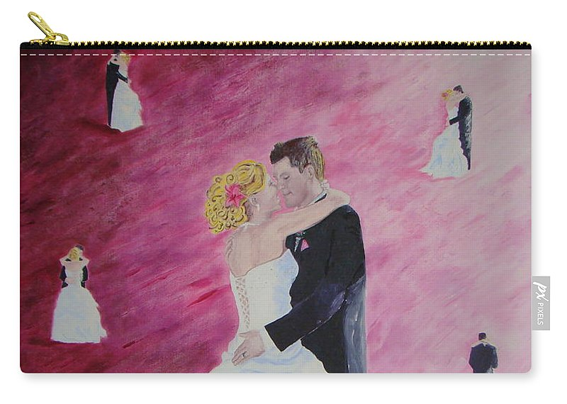 Wedding Carry-all Pouch featuring the painting Wedding Dance by Lisa Rose Musselwhite