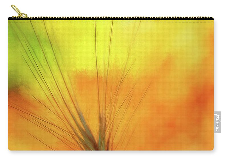 Background Carry-all Pouch featuring the mixed media Weed Glow by Terry Davis