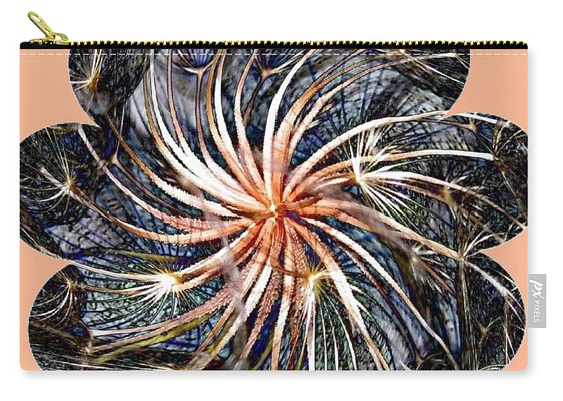 Weed Carry-all Pouch featuring the digital art Weed Whirl by Will Borden