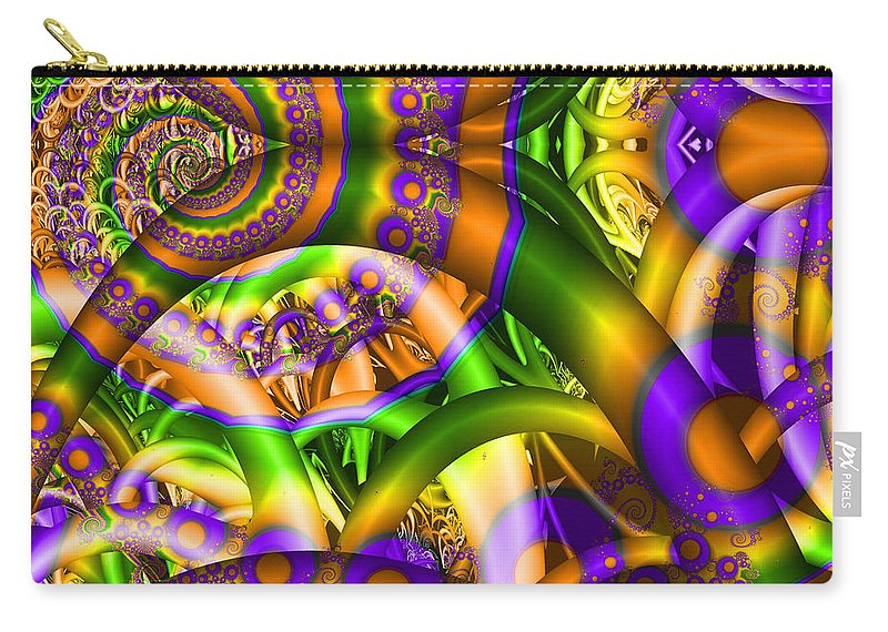 Crazy Carry-all Pouch featuring the digital art Weeds by Robert Orinski