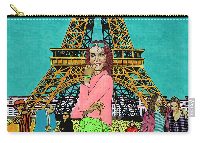 Eiffel Tower Carry-all Pouch featuring the painting Weekend In Paris by Alan Morrison