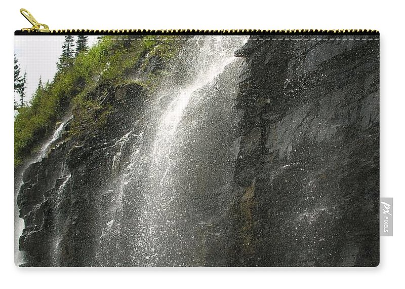 Weeping Carry-all Pouch featuring the photograph Weeping Wall by Diane Greco-Lesser
