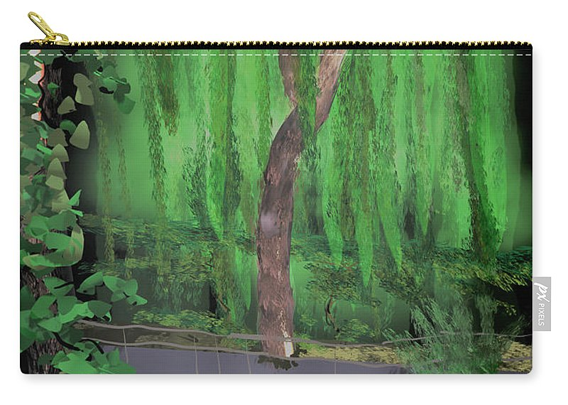 Tiltbrush Carry-all Pouch featuring the digital art Weeping Willow by Kab