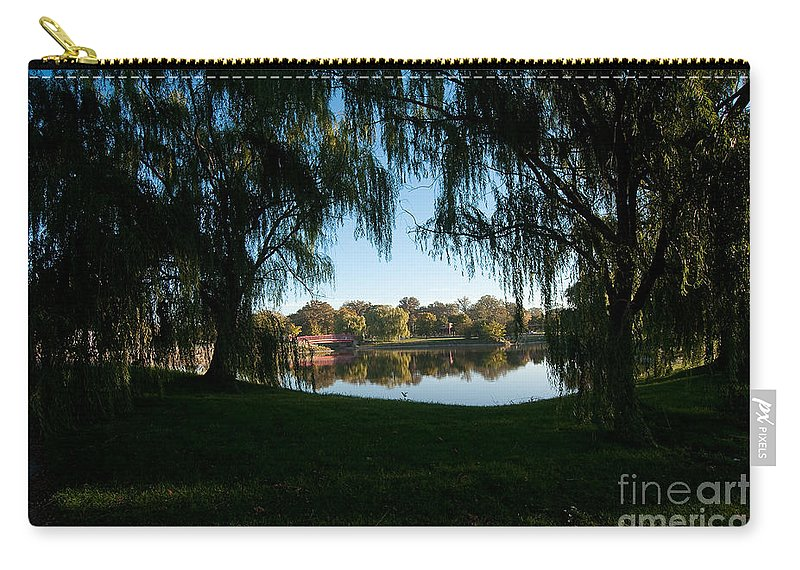 Weeping Carry-all Pouch featuring the photograph Weeping Willows by Steven Dunn