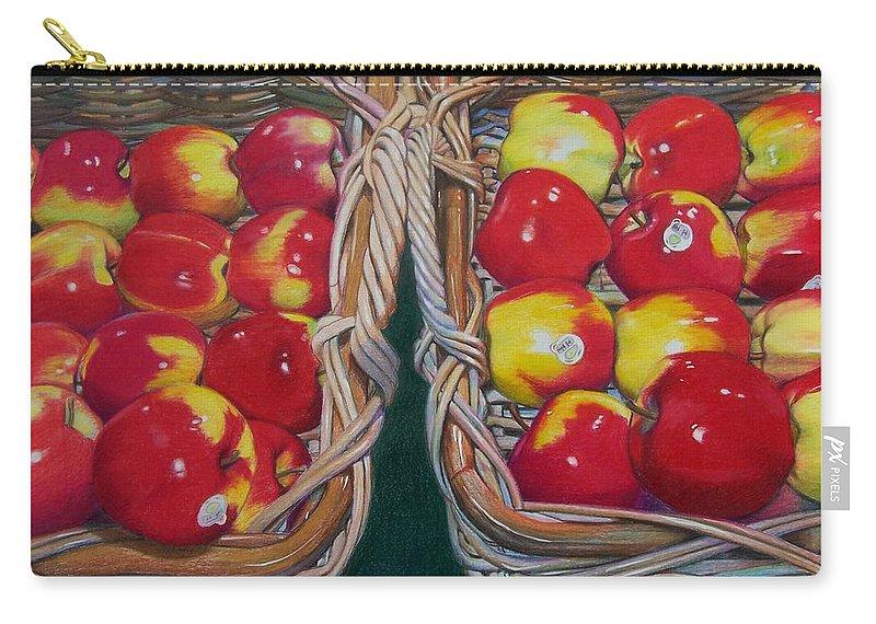 Apple Carry-all Pouch featuring the mixed media Wegman's Best by Constance Drescher