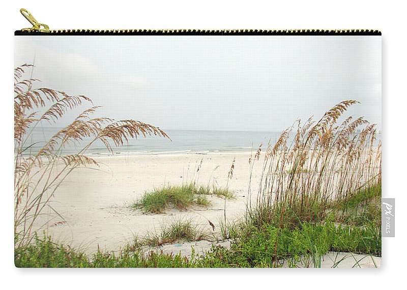 Beaches Carry-all Pouch featuring the photograph Welcome by Amanda Barcon
