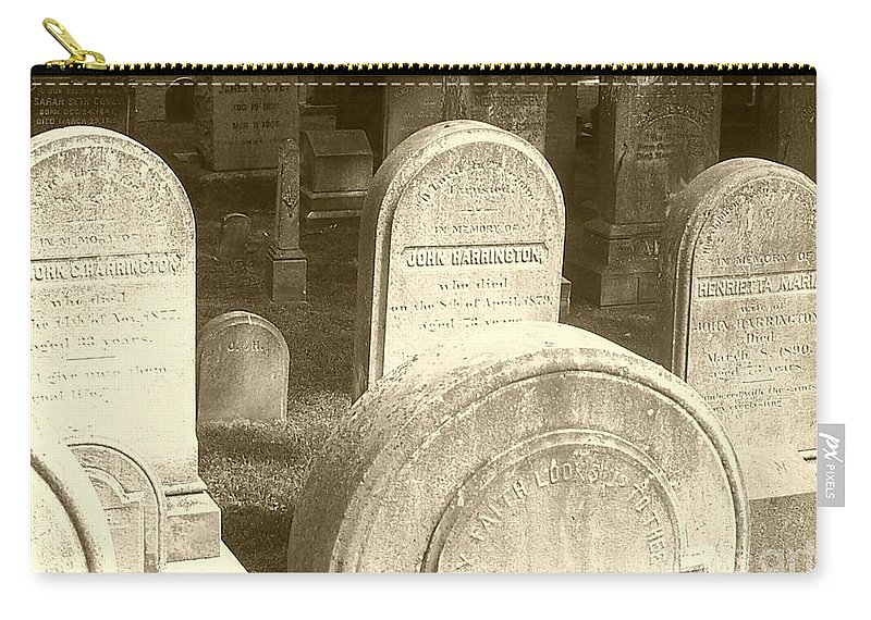 Cemetery Carry-all Pouch featuring the photograph Welcome by Debbi Granruth