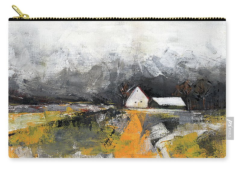 Landscape Carry-all Pouch featuring the painting Welcome home by Aniko Hencz