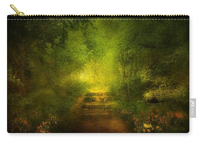 Branches Carry-all Pouch featuring the digital art Welcome Path by Svetlana Sewell