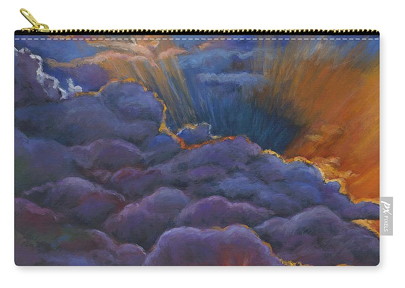 Cloudscapes Carry-all Pouch featuring the painting Welcome the Night by Johnathan Harris