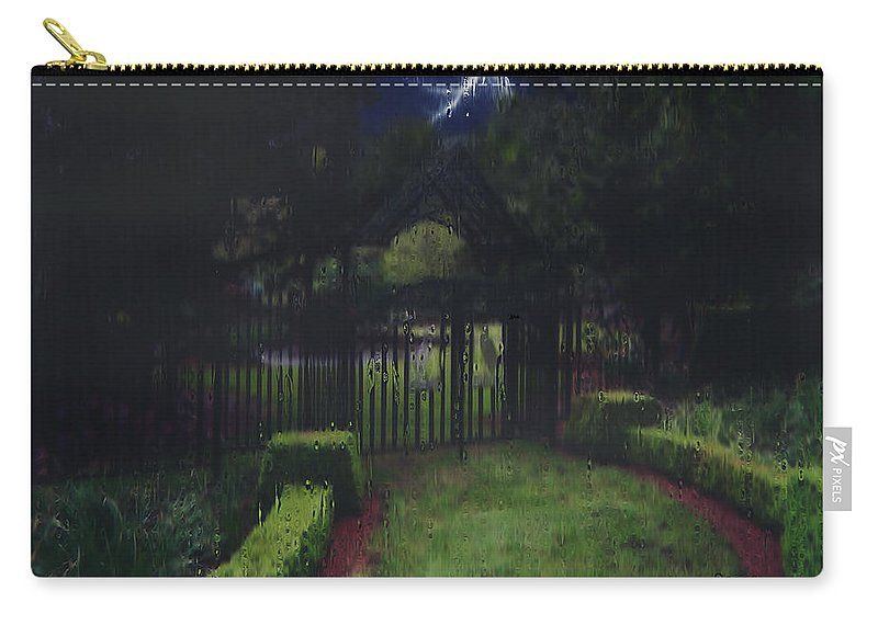 Landscape Carry-all Pouch featuring the painting Welcome To Dudleytown by RC DeWinter