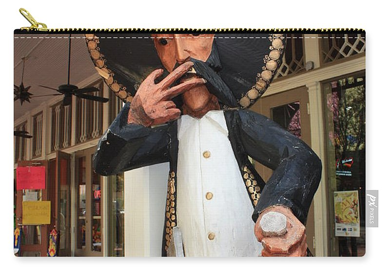 El Mercado Carry-all Pouch featuring the photograph Welcome To El Mercado by Carol Groenen