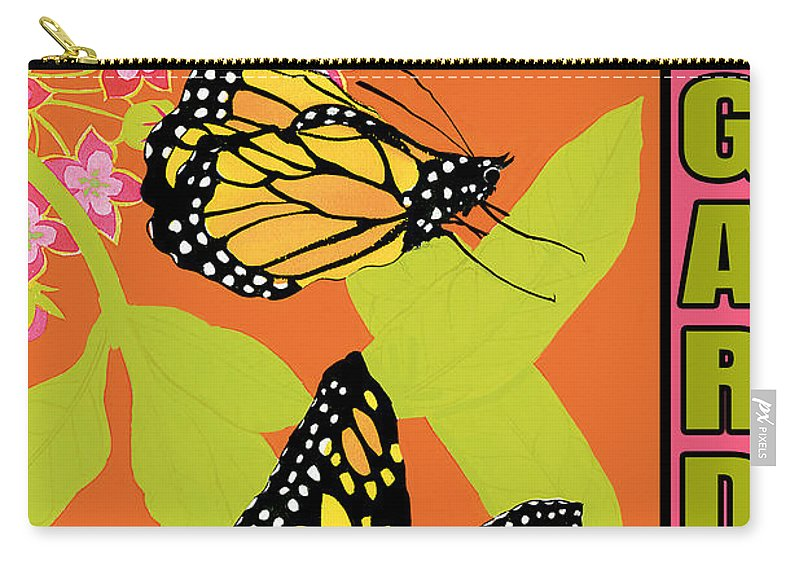 Jean Plout Carry-all Pouch featuring the painting Welcome To My Garden-jp2828 by Jean Plout