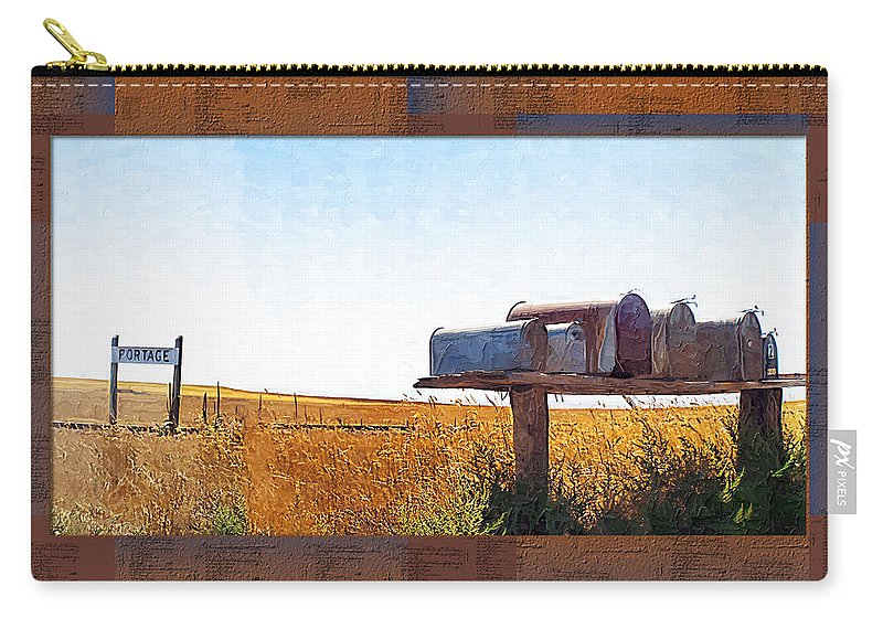 Railroad Carry-all Pouch featuring the photograph Welcome To Portage Population-6 by Susan Kinney