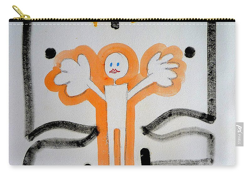 Drawing Carry-all Pouch featuring the painting welcome to the U N by Charles Stuart