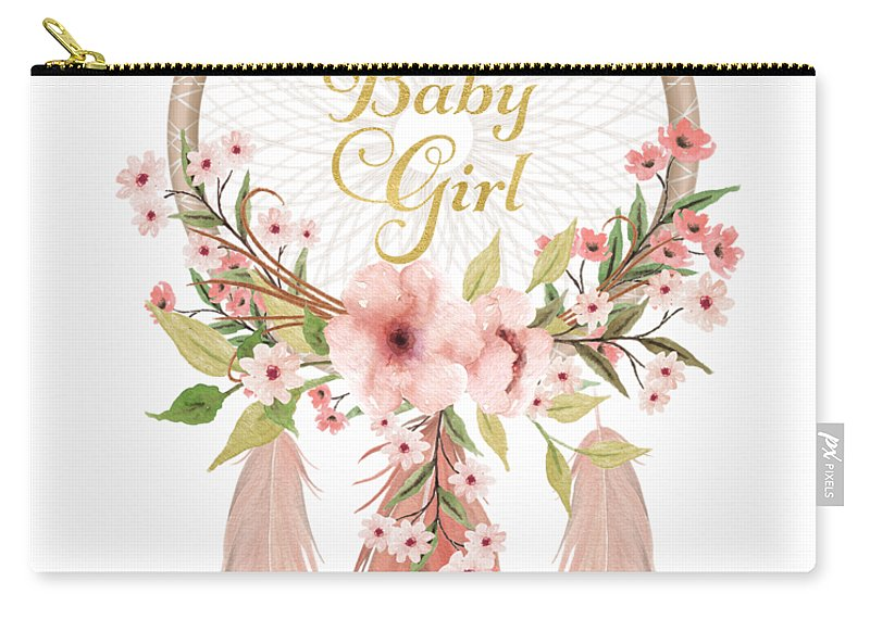 welcome to the world baby girl dreamcatcher carry all pouch for sale