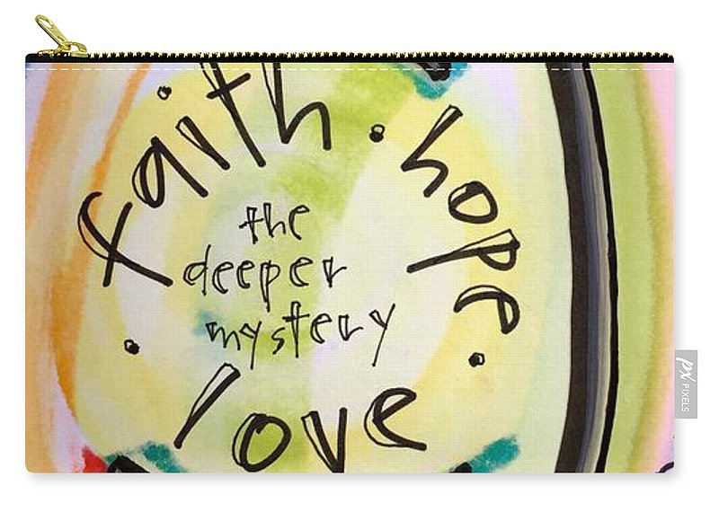 Faith Carry-all Pouch featuring the painting Welcome What Is by Vonda Drees