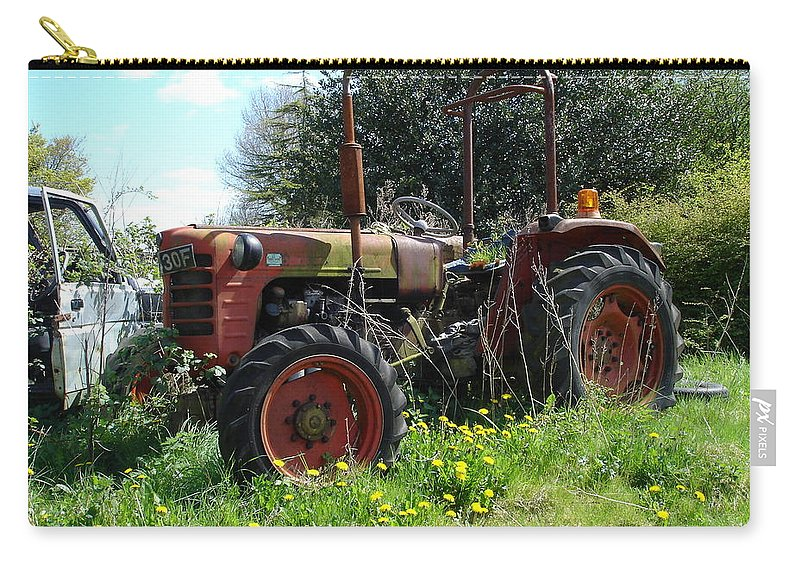 Tractor Carry-all Pouch featuring the photograph Well And Truely Retired by Susan Baker
