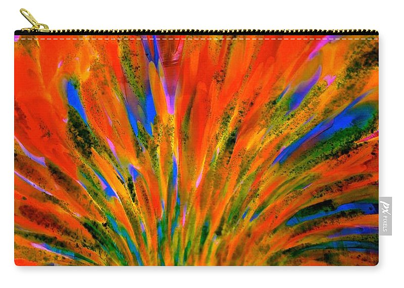 Abstract Carry-all Pouch featuring the photograph Well Of Colors by Tim G Ross