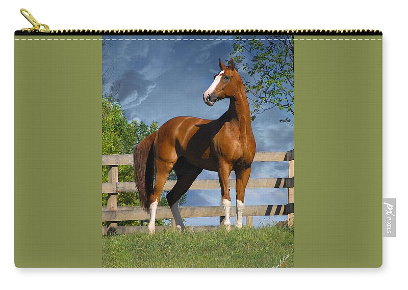 Horses Carry-all Pouch featuring the photograph Welt Adel by Fran J Scott