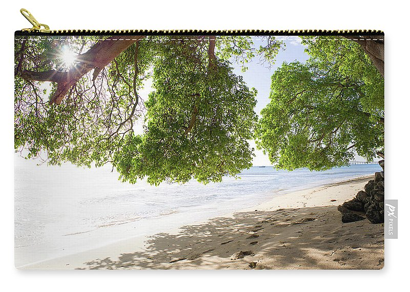 Barbados Carry-all Pouch featuring the photograph West Coast by Ferry Zievinger