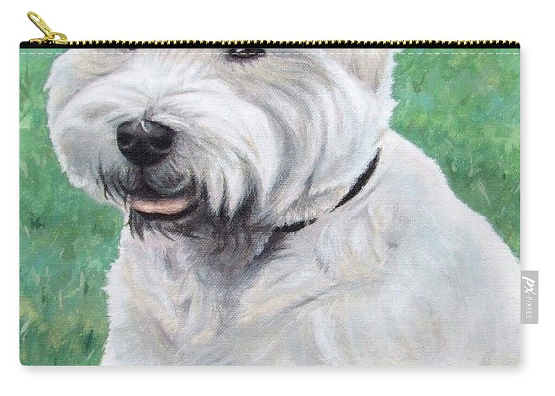 Dog Carry-all Pouch featuring the painting West Highland Terrier by Nicole Zeug