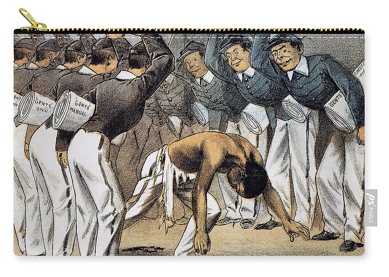 1880 Carry-all Pouch featuring the photograph West Point Cartoon, 1880 by Granger