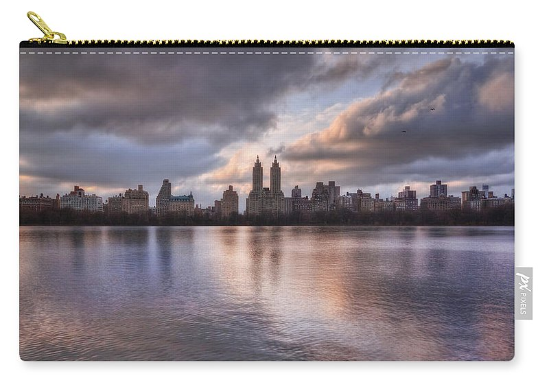 Central Park Carry-all Pouch featuring the photograph West Side Story by Evelina Kremsdorf