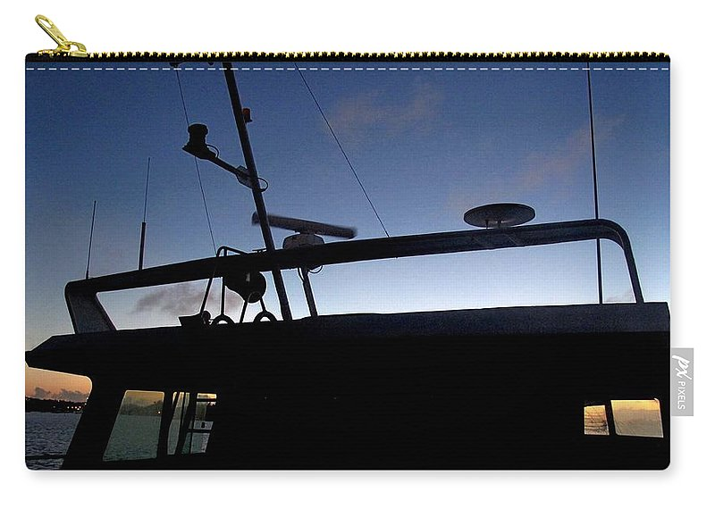 Boat Carry-all Pouch featuring the photograph West To Sommerset by Ian MacDonald