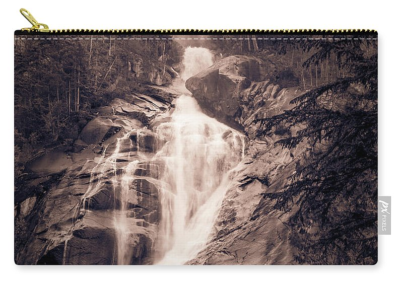 Waterfall Carry-all Pouch featuring the photograph West Waterfall by ChrisAntoniniPhotography