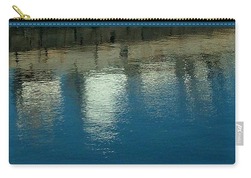 Water Carry-all Pouch featuring the photograph West Wharf Reflections I by Harriet Harding
