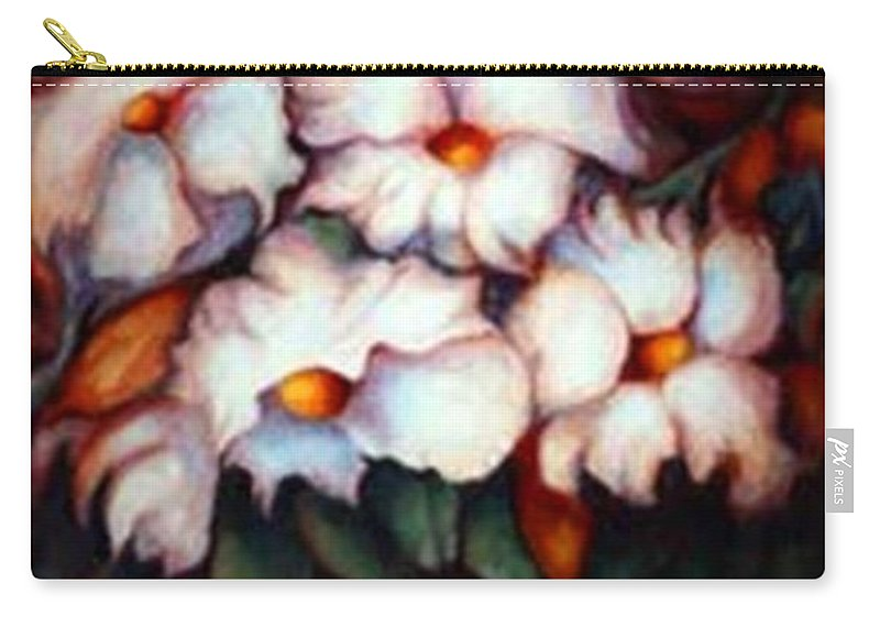 Flower Artwork Carry-all Pouch featuring the painting Western Flowers by Jordana Sands
