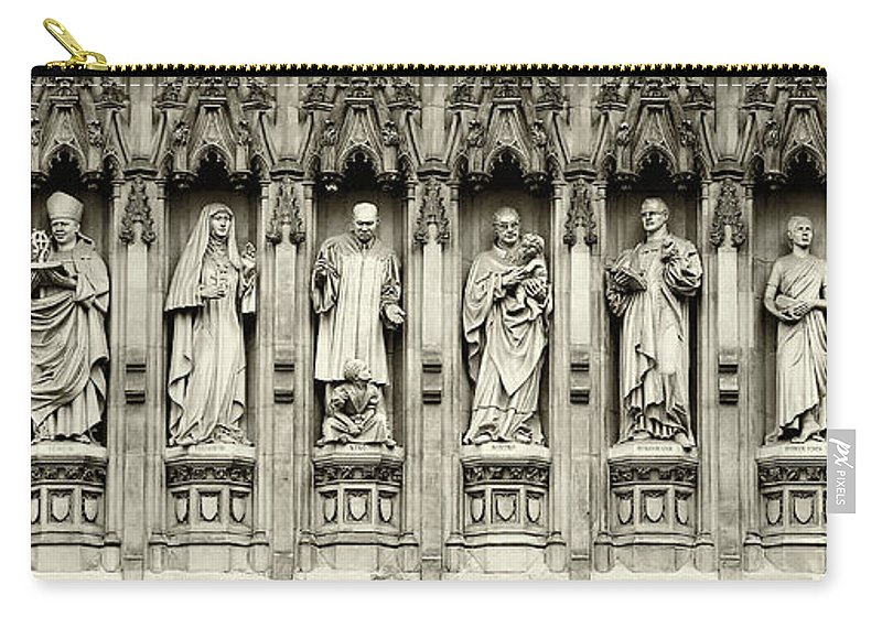 Westminster Abbey Carry-all Pouch featuring the photograph Westminster Martyrs Memorial - 1 by Stephen Stookey