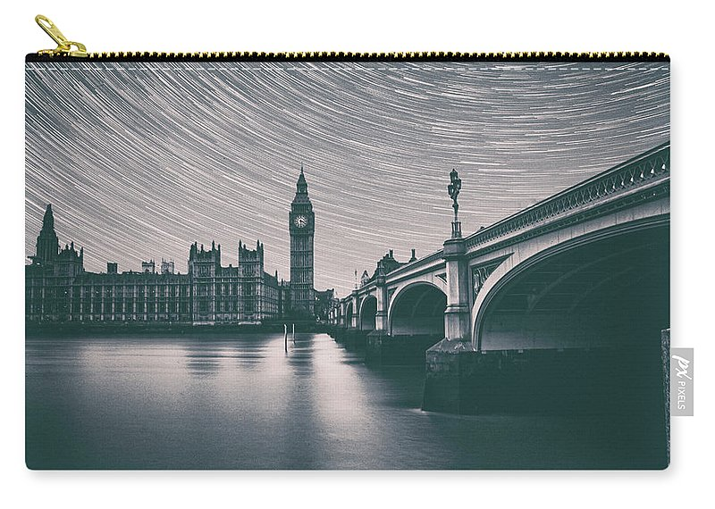 Night Carry-all Pouch featuring the photograph Westminster Stars by Martin Newman