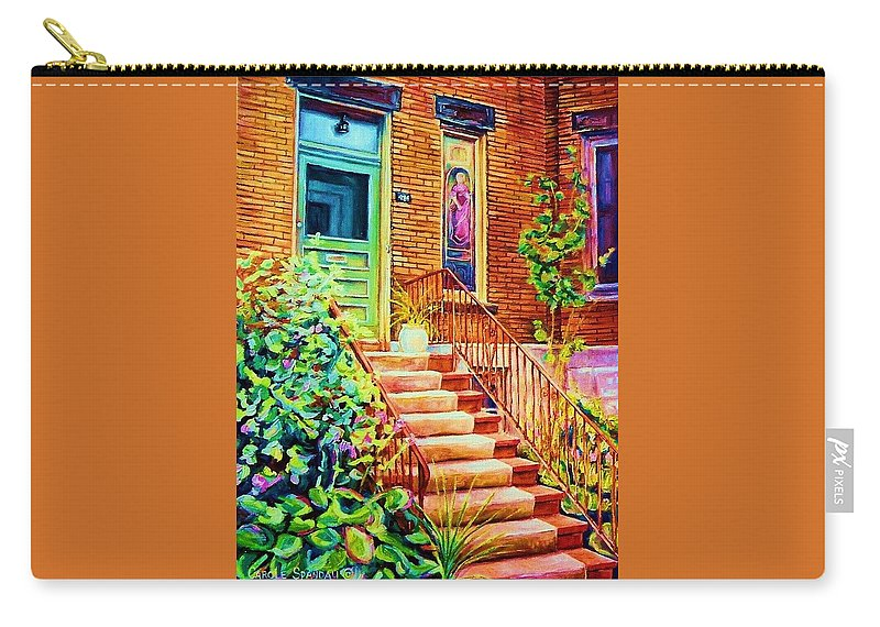 Westmount Home Carry-all Pouch featuring the painting Westmount Home by Carole Spandau