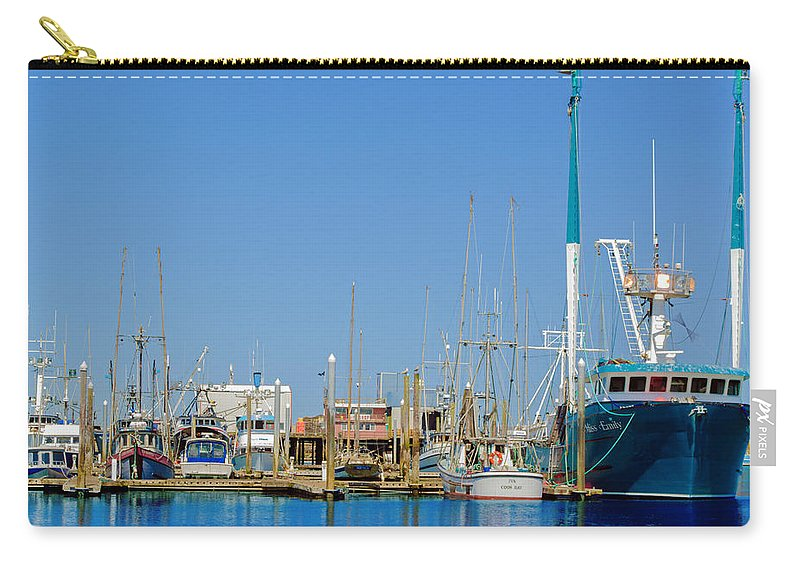 Westport Docks Carry-all Pouch featuring the photograph Westport Docks Color by Tikvah's Hope