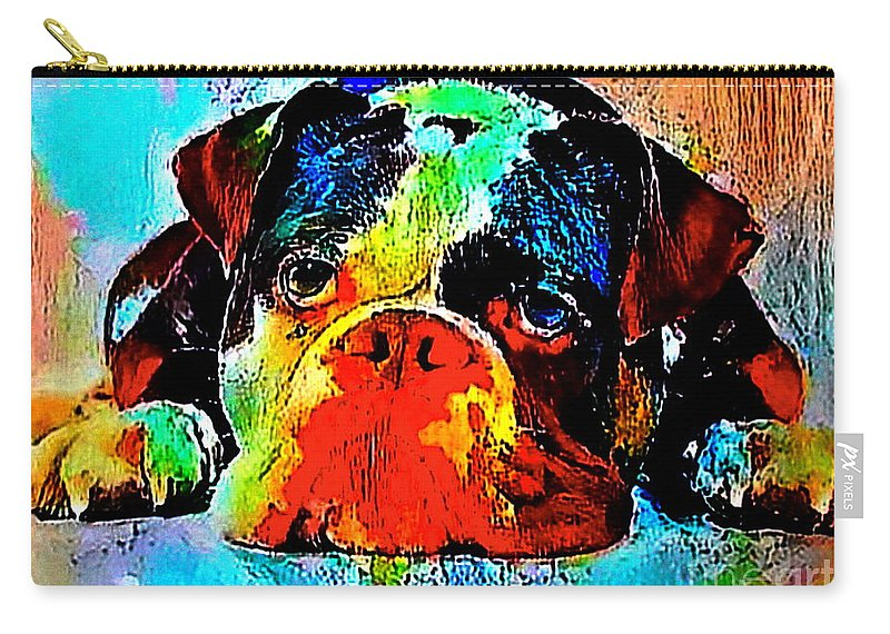 Golden Carry-all Pouch featuring the painting Wet Blanket by Pristine Cartera Turkus